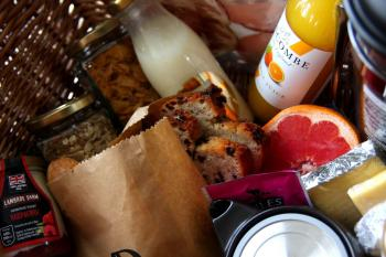 One of our luxury breakfast hampers