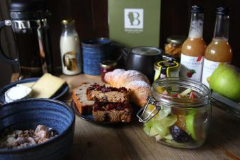 a Selection of the local produce in our luxury breakfast hamper