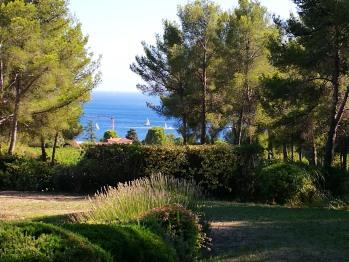 Jardin, vue mer