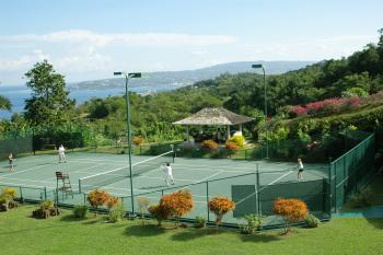 Tennis Court and Pavilion Viewing Area
