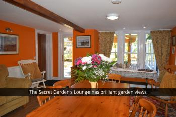 The Secret Garden Sitting Room complete with Washing Machine, Tumble Drier and Dishwasher