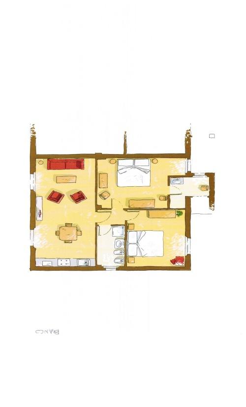 Appartamento-Esclusivo-Bagno in camera con doccia-Vista giardino-Bianco - Rack Rates