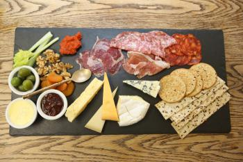 Yorkshire meat & cheese supper slate