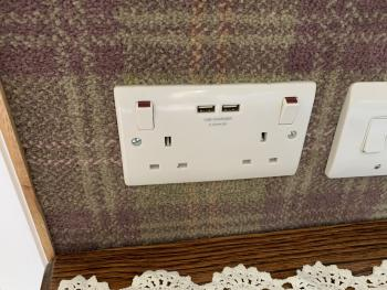 All rooms have USB Chargers like this.
