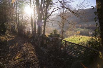 Chemin et portillon d'accès à Beroy