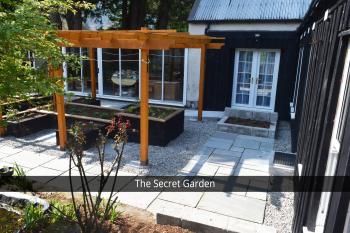 The entrance to the Secret Garden Suites