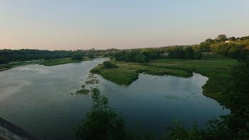 A beautiful view from the foot bridge that crosses the Maitland River.  To the east the river winds it's way through Huron county and golf courses like the Maitland incorporate its banks into their layout