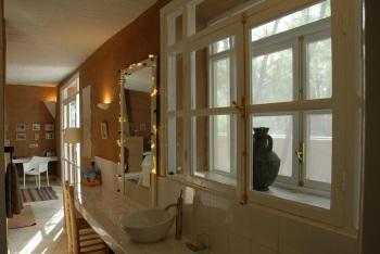 salle de bains de la suite Jardin