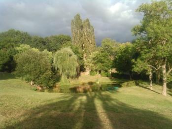 Une vue sur le parc