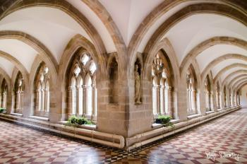 Architectural shot of the cloisters within the monastery