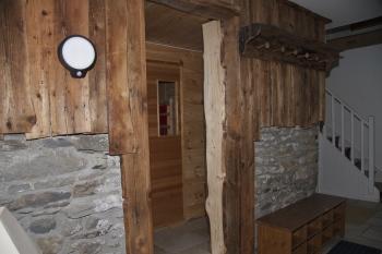 vers le sauna