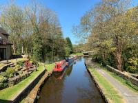 Peak Forest Canal looking towards Furness Vale marina