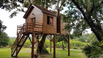 Cabane-Prestige-Salle d'eau-Vue sur Jardin-Le Paille en Queue