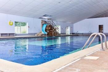 Indoor heated swimming pool on site