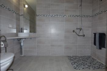 Salle d'eau avec douche italienne et WC surélevé