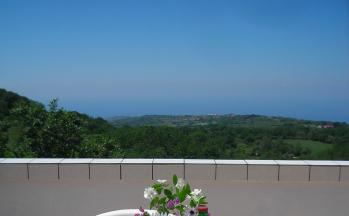Dachterrasse mit Blick aufs Meer © Ferienwohnung Casa Belle Vacanze