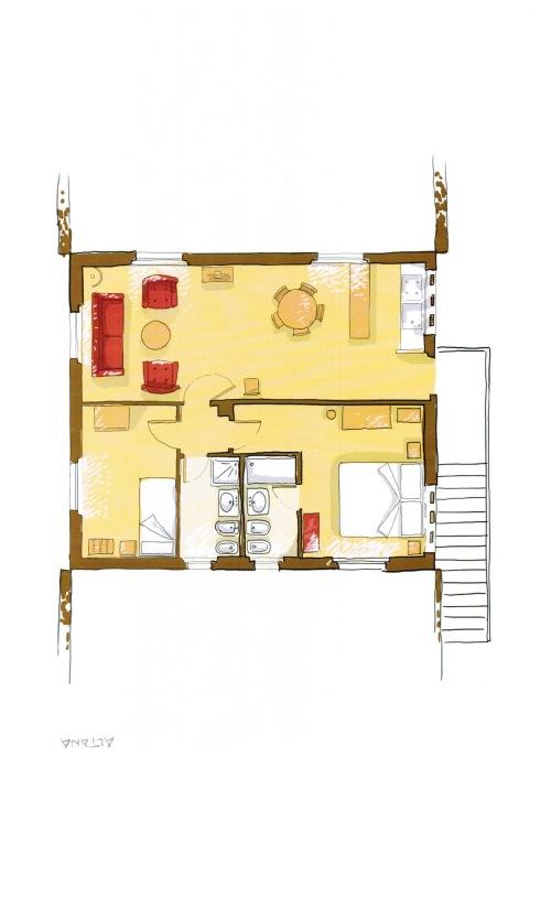 Appartamento-Premier-Bagno in camera con doccia-Vista sulla campagna-Altana - Rack Rates