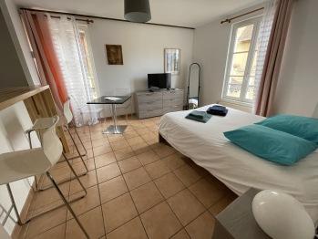 Appartement le Paul Bert Auxerre Les Quais 2 personnes - Chambre  et coin repas