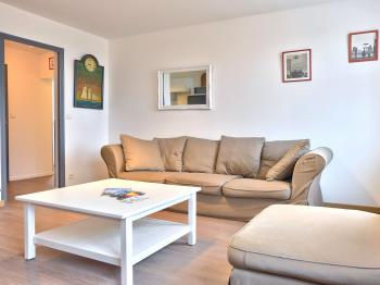 Salon d'un appartement 5 personnes - 2 km de ROUEN CENTRE