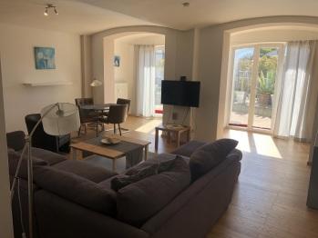 Ferienwohnung Wohnzimmer mit Terrasse