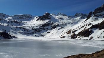 Lac bleu de Lesponne Hiver