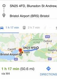 Links to Bristol Airport