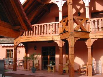 Balcon gite SELESTAT