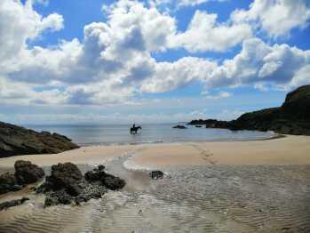 FIntra Beach near Killybegs with horse