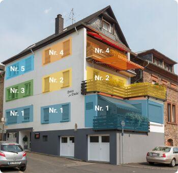 Haus Linde - Wohnungsnummerierung