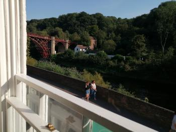 Ironbridge View Townhouse - Stunning view of the Iron Bridge from the lounge at Ironbridge View Townhouse