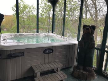 The Hot Tub on the Veranda at The ELMS B&B
