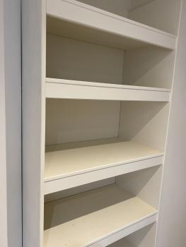Open shelving easy access to all your holiday clothes