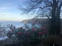 View of Lynmouth Bay from the car park