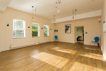 The studio space - empty for activities