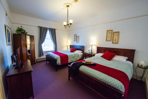 2 Queen beds - occupancy 1-3  lavendar room.