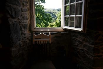 Standing looking over the Glen from the Grand Hall, as people have done here for more than 465 years