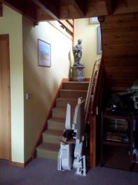 Main staircase with chair-lift