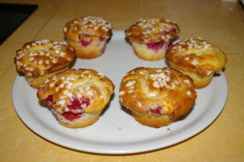 Petit-déjeuner : muffins aux framboises