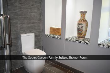 The Secret Garden Family Suite's Shower Room