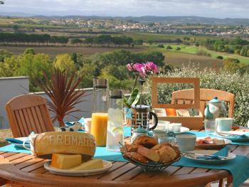 A great Schreuder's Breakfast served on terrace weather permitting