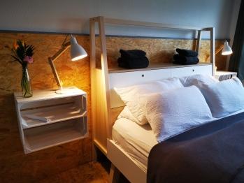Schlafzimmer und Bett - Apartment ( Haustiere nicht erlaubt ) 7-Ording