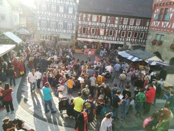 Marktplatz zur Festzeit
