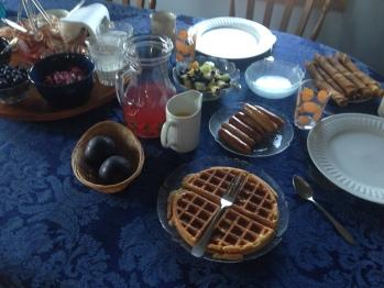 Spelt Waffles for breakfast