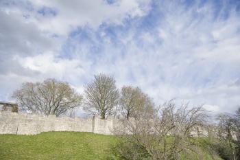 Views of the city walls.