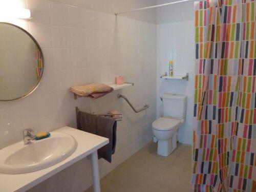Double-Large-Salle de bain-Vue sur Jardin