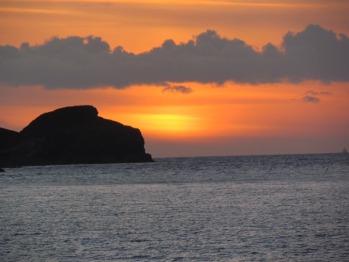 Sun set over the bay