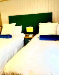 Two double rooms can be made into beautiful twin rooms