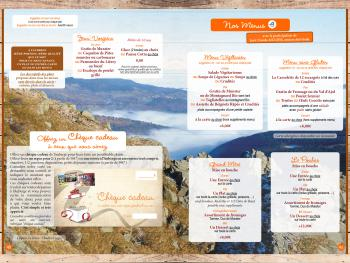 Carte 1/2 pension - Menus