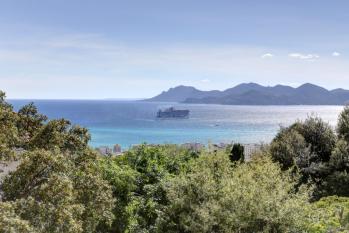 vue sur la baie de Cannes