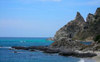 Bade- und Felsenbucht Tropea © Ferienwohnung Casa Belle Vacanze